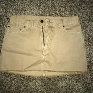 Free people khaki mini skirt size 4